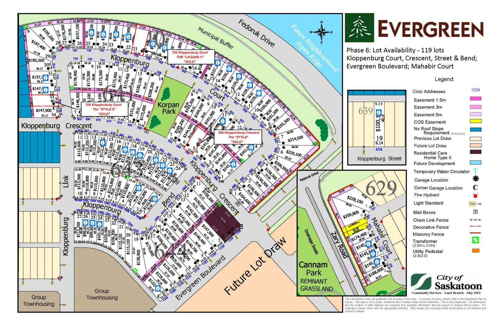 Available lots pure developments for 747 evergreen terrace